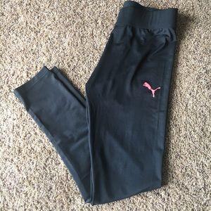 PUMA BLACK LEGGING JOGGER KIDS PANTS